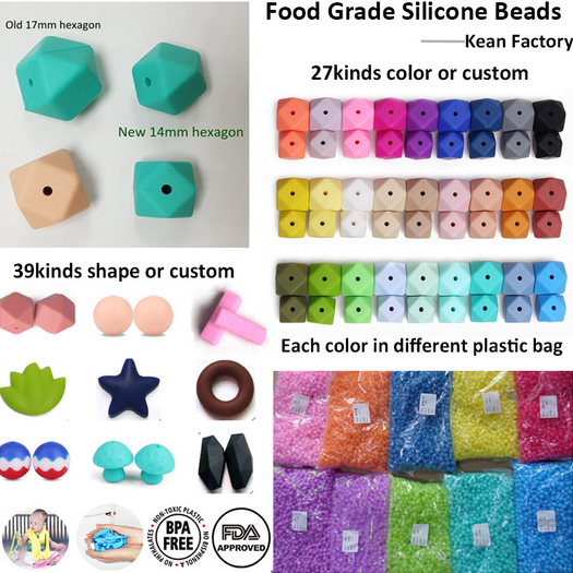 Non-Toxic Soft Beads Infant Silicone Jewelry Making beading kits