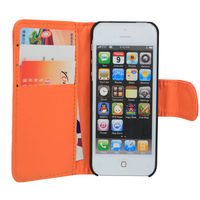 Wallet Case for iPhone5 with Pocket and Card Slots and Stand