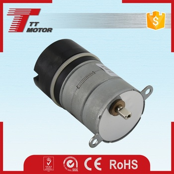 Low rpm gear motor for electric curtain