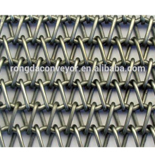 Factory honeycomb Metal stainless steel wire mesh conveyor belt
