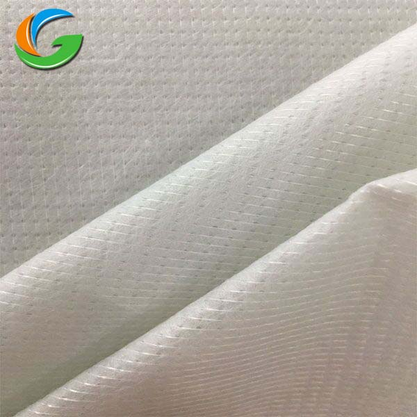 65-300Gsm 100% Polyester Stitch Bonding Nonwoven Fabric,Mattress Fabric 100% Polyester Black/White