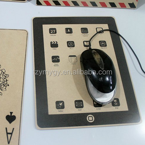 customized wood mouse pad