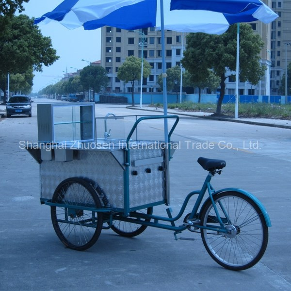 Hot and Popular Gas Fast Food Bicycle Trailer Cart Tricycle with Tricycle ZS-HT110 B