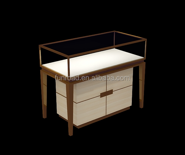 Chinese popular wooden jewelry display case with LED light