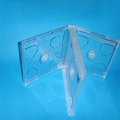 good quality 24mm ps plastic super clear cd dvd box for 4 discs