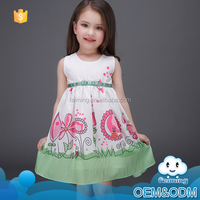 New model wholesale fresh elegant sweet girl princess evening party novel casual baby dress picture new style for birthday party