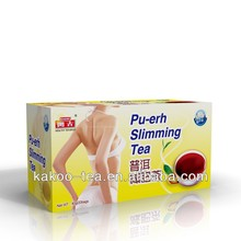 Kakoo natural weight lose fat reducing tea herbal slim tea pu-erh slimming tea