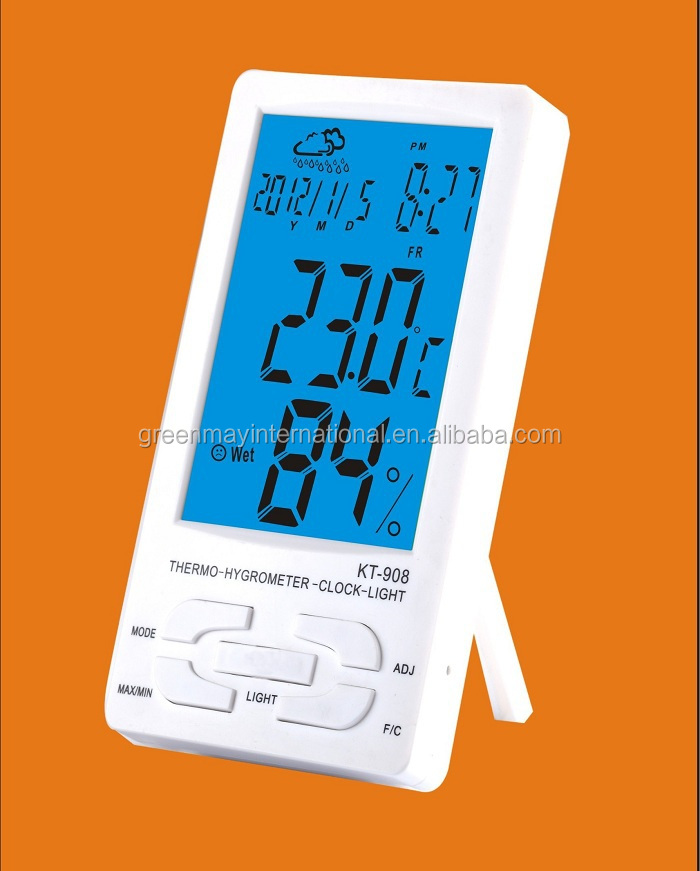 KT-908 blue LED in/out digital thermometer for liquid