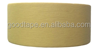 Rice Yellow Color Masking Material and Heat-Resistant Feature Cheap Masking Tape Size 48mm*55m High Temperature resistance 130s