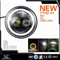 40W 12v 7 inch car headlight manufacturer led car headlight kit car headlight booster