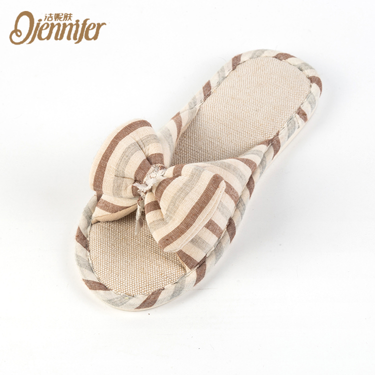 Cute Yellow Bow Modern Women Sexy House Hotel Slippers Sandals