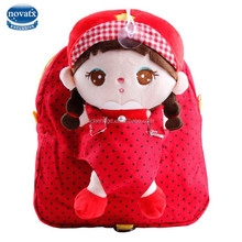 Nova new style hot sell cute school bag with lovely plush girl doll school bag for girls factory wholesale China