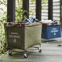 American Style Movable Fabric Storage Basket