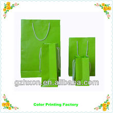 Bright color paper packaging bag for food and beverage