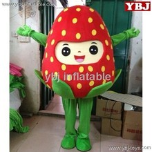 2015 strawberry mascot costumes, fruit mascot for party,Strawberry Fruit Mascot Costume