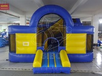 GMIF Inflatable Water Island Inflatable Jumping Tent for Kids