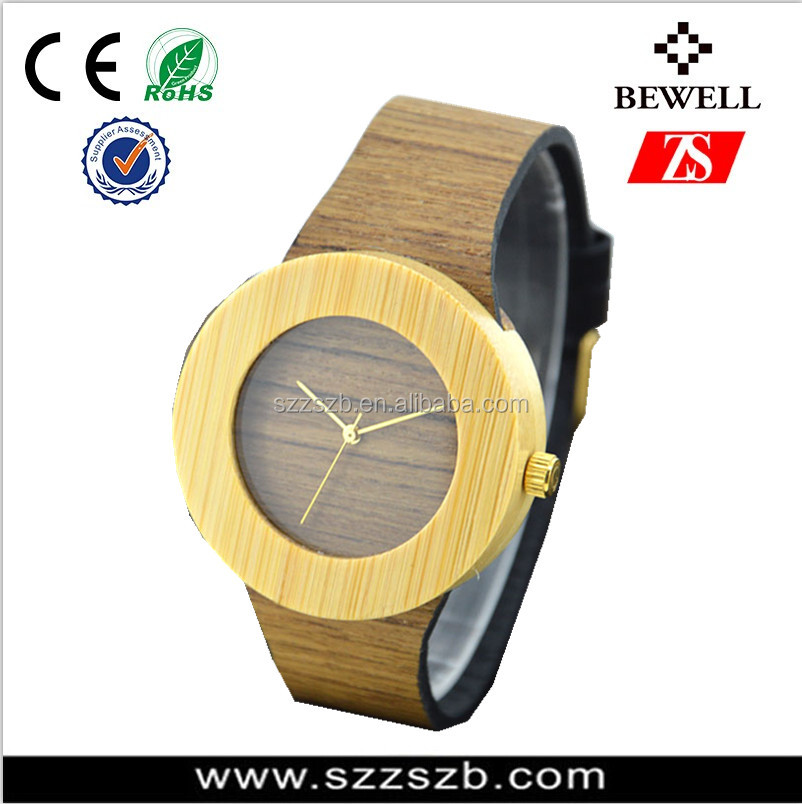 The 100% heathy valuable timber we wood watch faces for jewelry making Ladies style double face wood watch