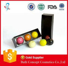 Ball shape lip balm in unique design box