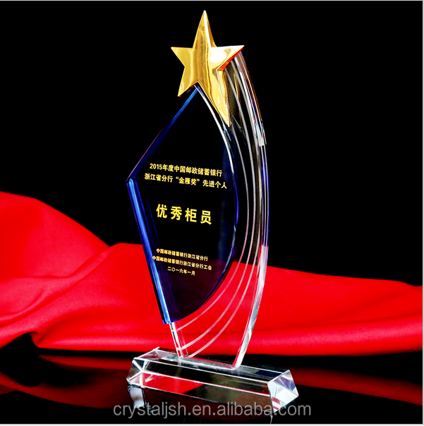 Sports Event Crystal trophies and awards Customized Basketball Football Golf Tennis Logo Champions League Cup Trophy Souvenirs