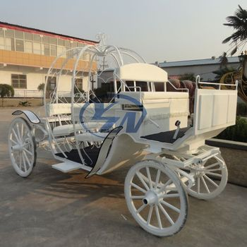 Yizhinuo white cinderella horse carriage for sale/ Pumpkin Horse drawn carriage manufactory