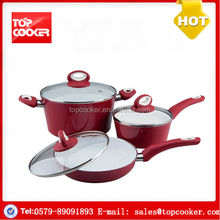 China supplier aluminium forged ceramic coated look cookware