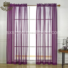 Cheap Window Decorative Rod pocket Simple Sheer Curtain