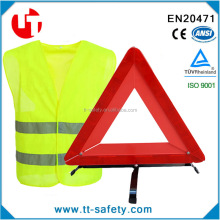 reflective safety vest warining triangle roadside assistance Kit