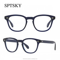 Newest Design Eyewear Acetate Blue Eyelgasses