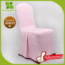 pink banquet pleat spandex chair cover