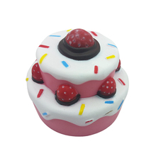 Cute Jumbo Squishies Double layer Strawberry Cake Kawaii Cream Scented Very Slow Rising Decompression Squeeze kids Toys