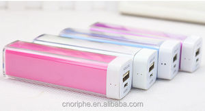 The newest lipstick power bank for external battery small like lip stick
