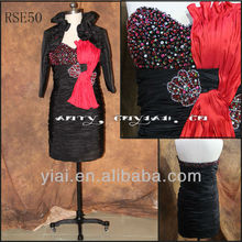 RSE50 Black Mother Of The Bride Dresses With Jackets