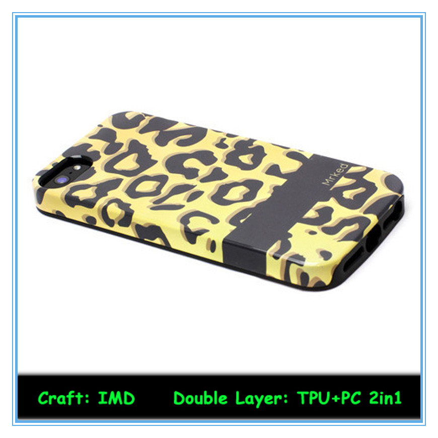 Two in one fireproof phone case for iphone 5 in high quality