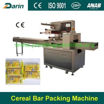 Horizontal automatic pillow packaging machine for food for Food bar packaging machine