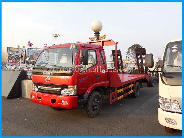 5-6tons Dongfeng 4*2 flat bed lorry truck for sale