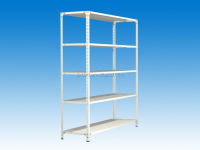 Shapely light duty steel metal display rack / shelves