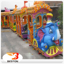 Newest amusement machines kids electric amusement train rides for sale