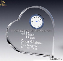 Noble Crystal Clock Blank Crystal For Engraving Custom Crystal Craft