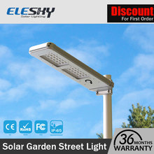 Outdoor led solar powered main gate lights