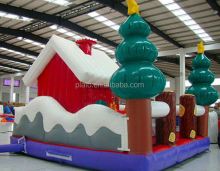 PVC tarpaulin inflatable Christmas decorations bouncer bouncy castle hourse for kid