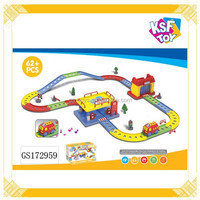 2015 Newest B/O Rail Train Toys, Electric Gas Station and Car Washing Station, Train Toys For Kids