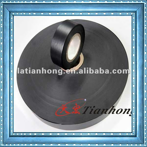 Black PVC duct Tape/pipe wrapping tape of good tensile strength
