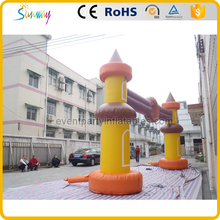 Funny design castle theme inflatable entrance arch gate for playground