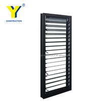 YY Aluminum glass door and window AS2047 german window shutters electric window shutters exterior sun shade aluminium louvers