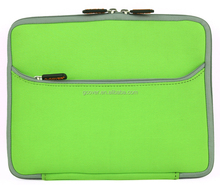 15.6 inch factory price wholesale neoprene laptop sleeve with color zipper for macbook pro