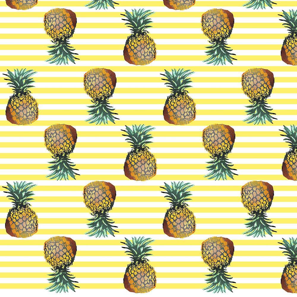 100% Polyester Fabric with Pineapple Print for Swim Shorts