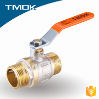 brass stem ptfe seated ball valve dn65 a quarter shut off/on 15mm brass ball valve for water meter
