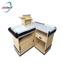 wooden POS display desk counter for cash