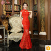 Chinese Traditional Light Red Embroidered Hollowed-out Elegant Long Evening Dress