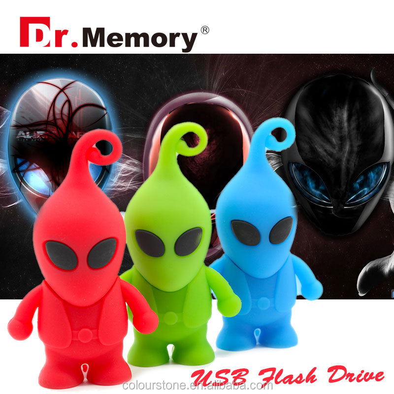 Dr.memory cartoon three colors pendrive toy usb Aliens USB Flash Drives thumb pendrive memory stick u disk 4GB usb 8GB 16GB 32GB